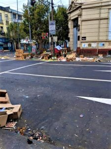 Street Carnage After New Years In Valparaíso, Chile