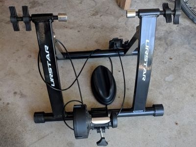 Indoor Bicycle Trainer I used As Part of My Beginners Ironman Training Plan